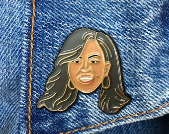Michelle Obama Pin, First Lady, Soft Enamel Pin, Jewelry, Art, Gift (PIN61)