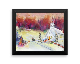Night Before X-Mas Framed Holiday poster