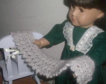 Angora Doll Shawl Made in Angora Creole Lace