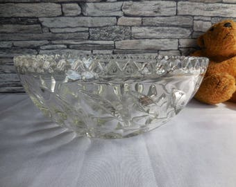 1950's English cut glass bowl