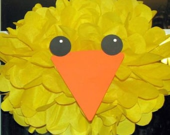 Chick tissue paper pompom kit Old MacDonald farm party