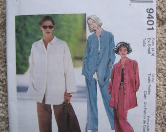 UNCUT Misses Shirt, Pull-On Skirt and Pants - McCalls Pattern 9401