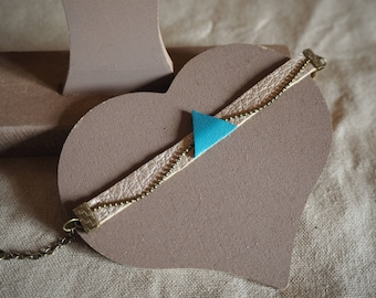 Bracelet blue triangle geometric