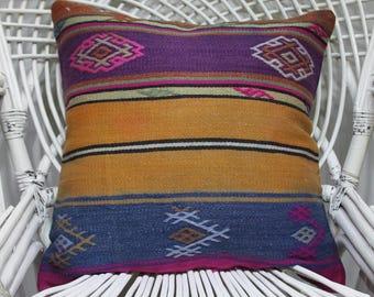 "sarikayakilim 20x20 kilim pillow cushion covers cojines etnicos southwest pillow 20""x20"" decorative pillow kilim turkish kilim pillow 1755"