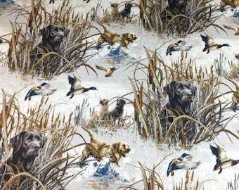 Golden Retriever Cotton Blend Fabric - 58 Inches Wide