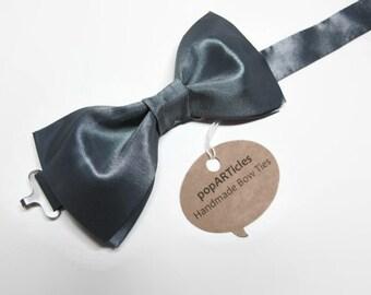 Gunmetal Bow Tie - Grey Bow Tie - Silver Bow Tie - Platinum Bow Tie - Charcoal Bow Tie - Pre-Tied Bow Tie