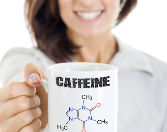 Caffeine Powered Chemistry Mug Present Birthday Funny