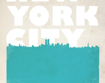 New York City Bold Skyline Print