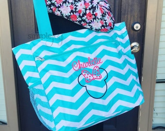 Disney Bag, Minnie Mouse Bag, Disney Diaper Bag, Minnie Mouse Diaper Bag, Girl Diaper Bag, Boy Diaper Bag, Disney Gift, First Disney Trip