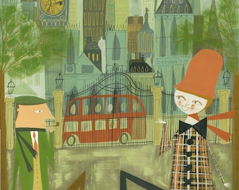 London. Limited edition print by Matte Stephens.