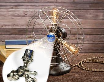 Fan Lamp Kit | DIY Kit | Candelabra | How To | Lamp Parts | Lamp Supplies | Guide | Parts | Tutorial Fan Lamp | Chrome | 3 Socket