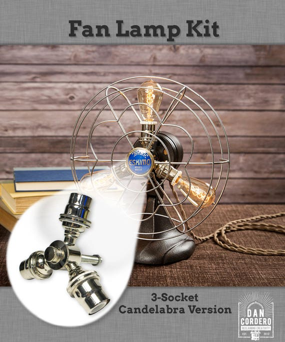 Fan lamp kit diy kit candelabra how to lamp parts like this item aloadofball Image collections