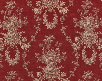 Waverly Country House Toile Red Fabric -  by the Yard