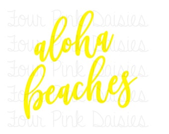 Aloha Beaches Vinyl Decal