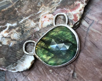Andrew Thornton Silver and Labradorite Pendant