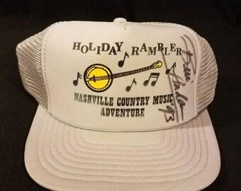Signed Nashville Country Music Adventure Holiday Rambler Snapback Hat Vintage B2