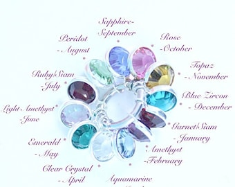 Extra Swarovski Elements Birthstone Crystal To Add To Your Bo Belles Product.