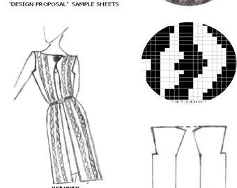Knit Crochet & Cross Stitch Graph Pattern 'Stylised Zebra