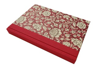 Large Address Book Renaissance Flower red, A5 phone book with tabs