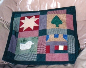 Nature Inspired Quilted Wall Hanging