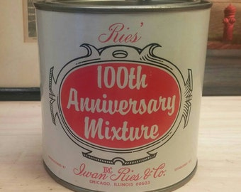 Ries 100th Anniversary VINTAGE PIPE TOBACCO Tin / Container in Excellent Condition Chicago Illinois