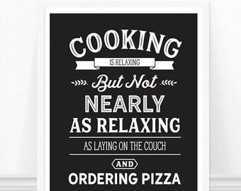 Kitchen wall art, Kitchen Typography Print, Kitchen Art, Cooking Quote, Funny Kitchen Sign, Black and White, Kitchen Print