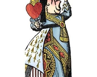 Alice in Wonderland Queen of Hearts Notecard with Stickers