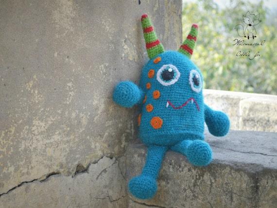Amigurumi Monster Pattern Free Crochet : Crochet pattern crochet monster pattern monster toy pattern