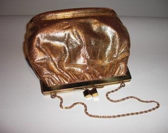Gold Leather evening, circa 1950's bag (41)