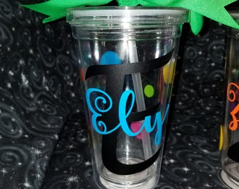 Personalized plastic Tumbler// gifts for any occasion// party favors // party gifts