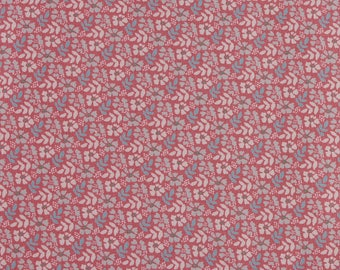 1/2 metre of Floral Print Fabric from Fabric Freedom - Flower & Fern on Pink