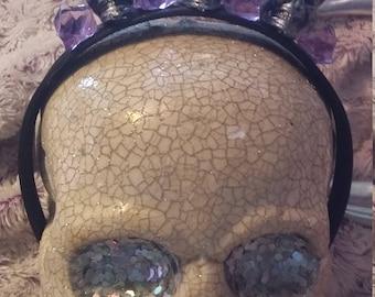 Crystal skull headband