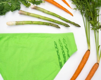 Asparagus Women's Handmade Underwear - Made to Order