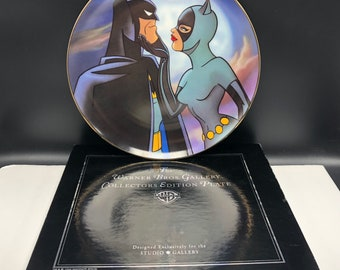 1996 BATMAN COLLECTORS PLATE catwoman cat woman Almost got 'Im warner bros brothers gallery priginal box limited edition dc comics figurine