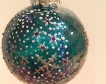 Custom made Christmas bauble.