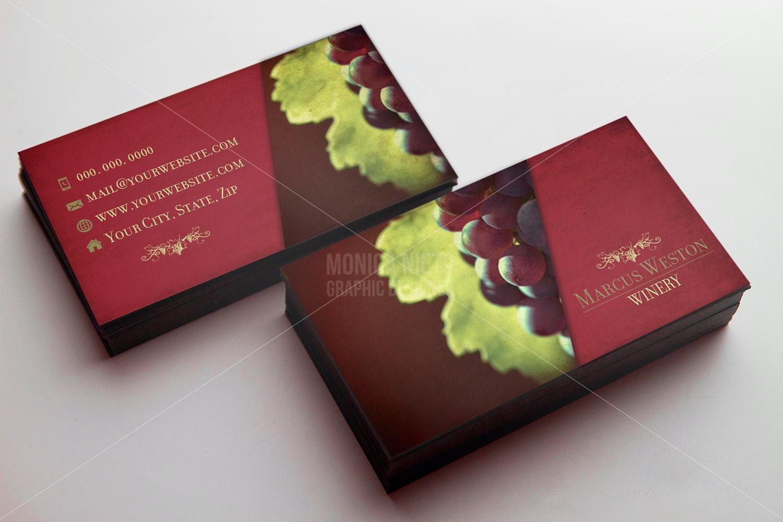 Custom Printable Winery Business Card Template/ Wine Seller