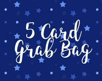 5 Card Grab Bag Mystery Box greeting cards gift just because birthday surprise