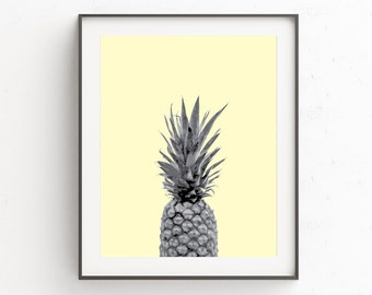 Kitchen Wall Decor, Pineapple Print, Pineapple Art, Large Poster Art, Posters, Pineapple, Wall Art, Wall Print, Printable, Fruit Print Art