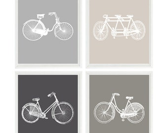 Bicycle Wall Art, Bike Prints, Neutral Art, Bicycle Nursery, Bike Wall Art, Tandem Bike, Modern Wall Art, Home Decor, Gift For Home