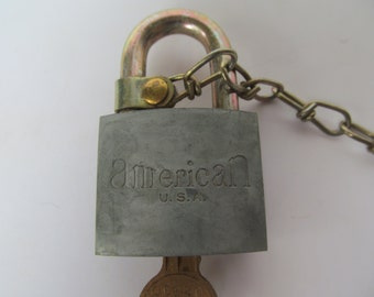 American Pad Lock - Key Entry Lock vintage Lock