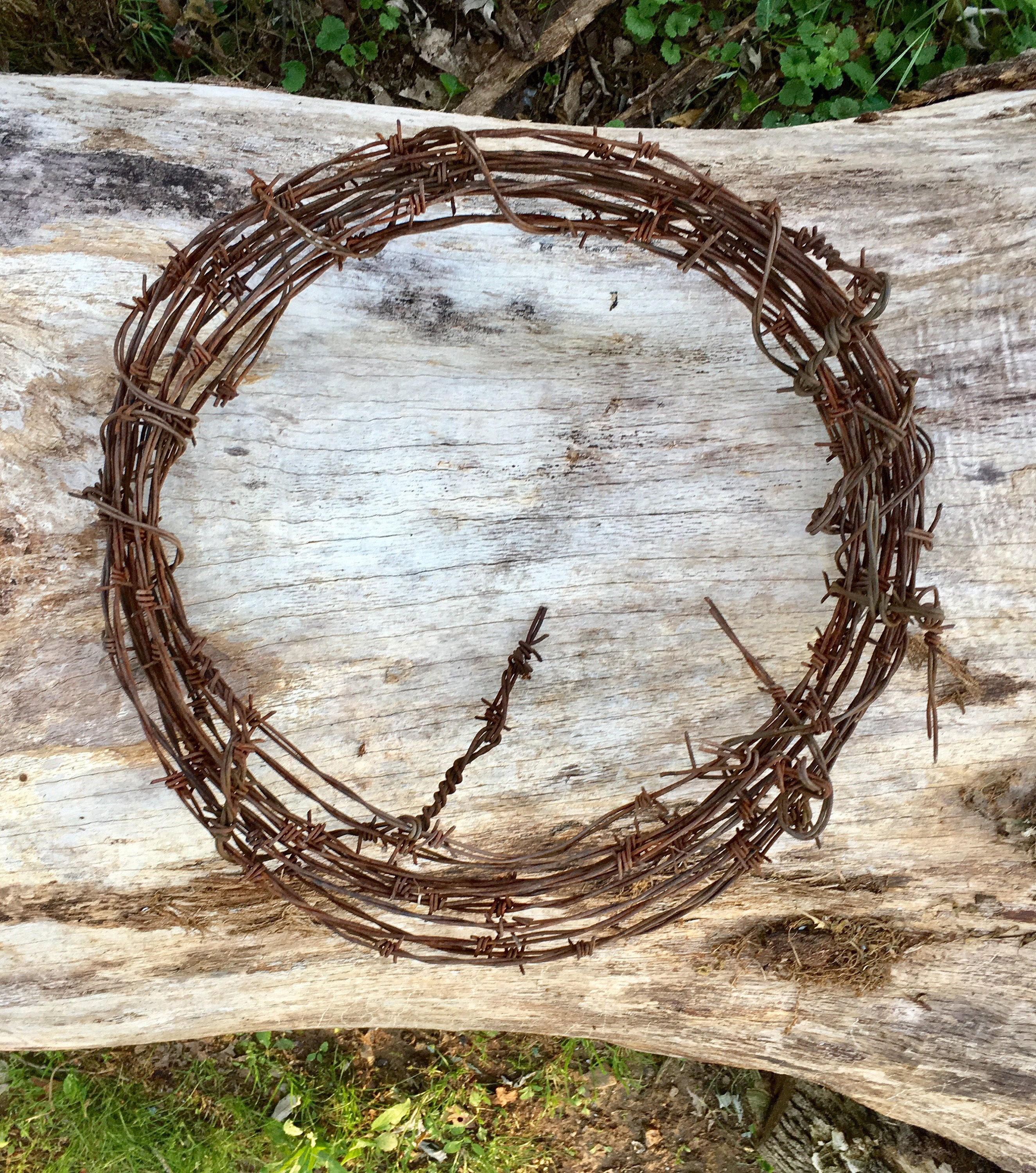 Vintage Rustic Western Decor Barbed Wire Wreath Rustic Wedding Decor ...
