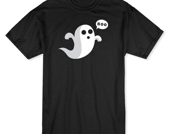 Cute Scary Ghost Not The Classic Friendly Ghost Men's Black T-shirt