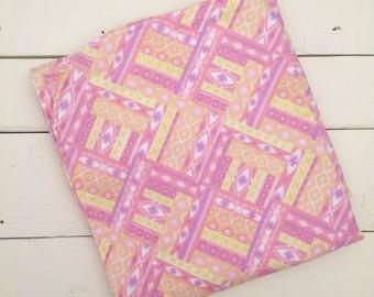 Baby Girl Arizona Pattern Receiving Blanket - Pink, Purple & Yellow