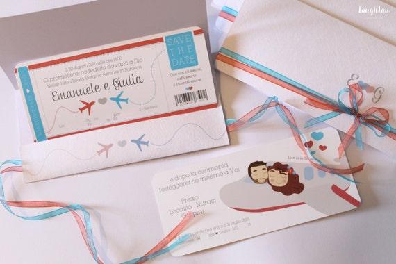 Auguri Matrimonio Tema Viaggio : Partecipazioni matrimonio tema viaggio con illustrazione
