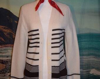 Vintage 70's knit striped sweater sz M
