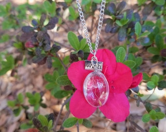 Dandelion and wish necklace