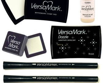 Versamark Watermark Small Large Ink Pad Refil Double Ended Pen Dazzle