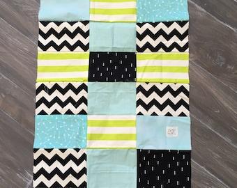 Blanket color modern pattern
