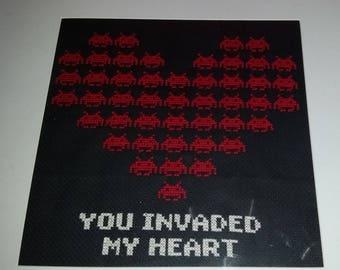 Space Invader Cross Stitch