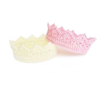 NEWBORN CROWN, Crochet Baby Crown, Newborn Princess Crown, Little princess Baby Shower Gift, Crochet Crown